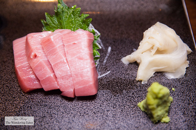 Sashimi of chutoro (fatty tuna)