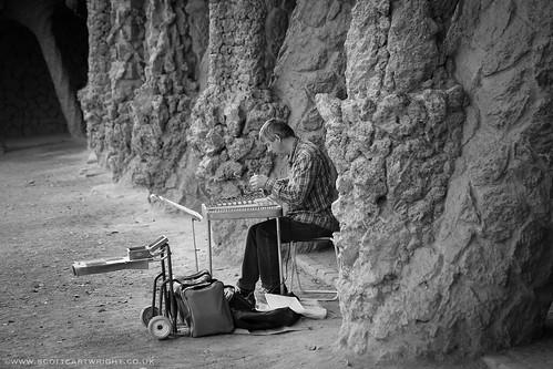 Musician In Park Güell