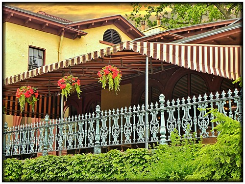 flowers sunset usa cloud house ny newyork fountain museum architecture italian iron williams balcony style historic cast historical munson mansion hdr utica proctor elms italianate nationalregister nrhp oneidacounty onasill