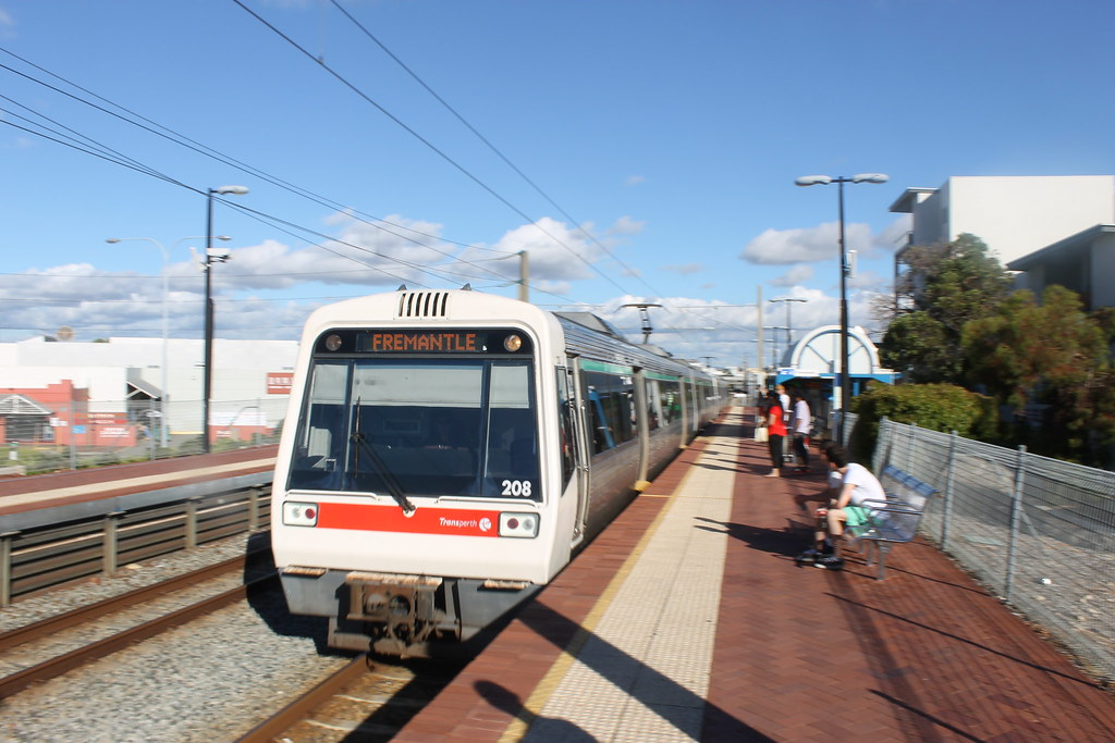 A series set 8 arrives at City West en route to Fremantle by Jeremy Dodds