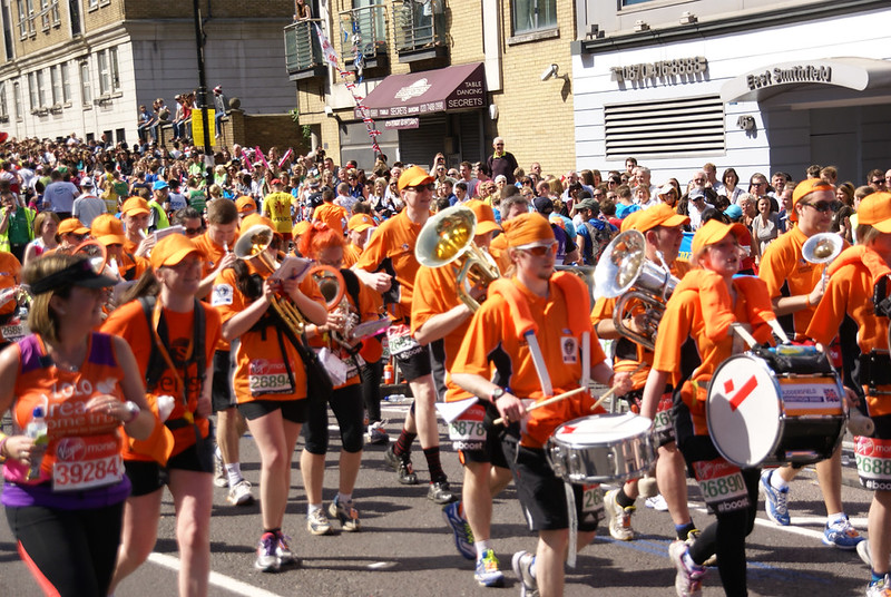 And The Band Ran On Mile 13 2014 London Marathon