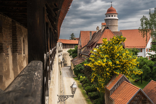 a view from the city wall of Nördlingen