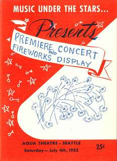 July 4th concert program, 1953