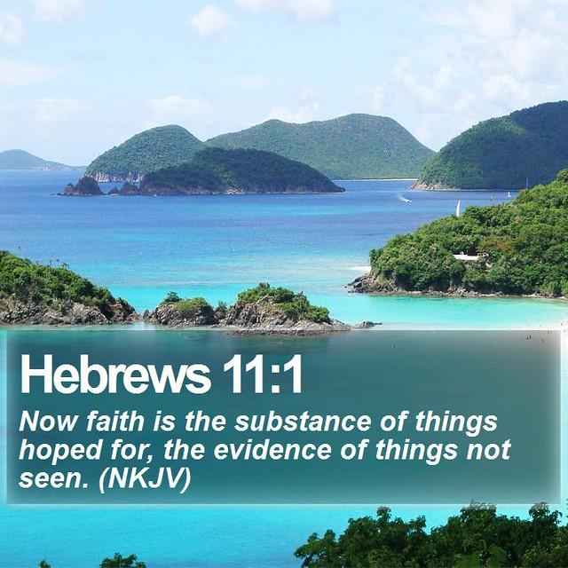 Daily Bible Verse - Hebrews 11:1 | Hebrews 11:1 Now faith is… | Flickr