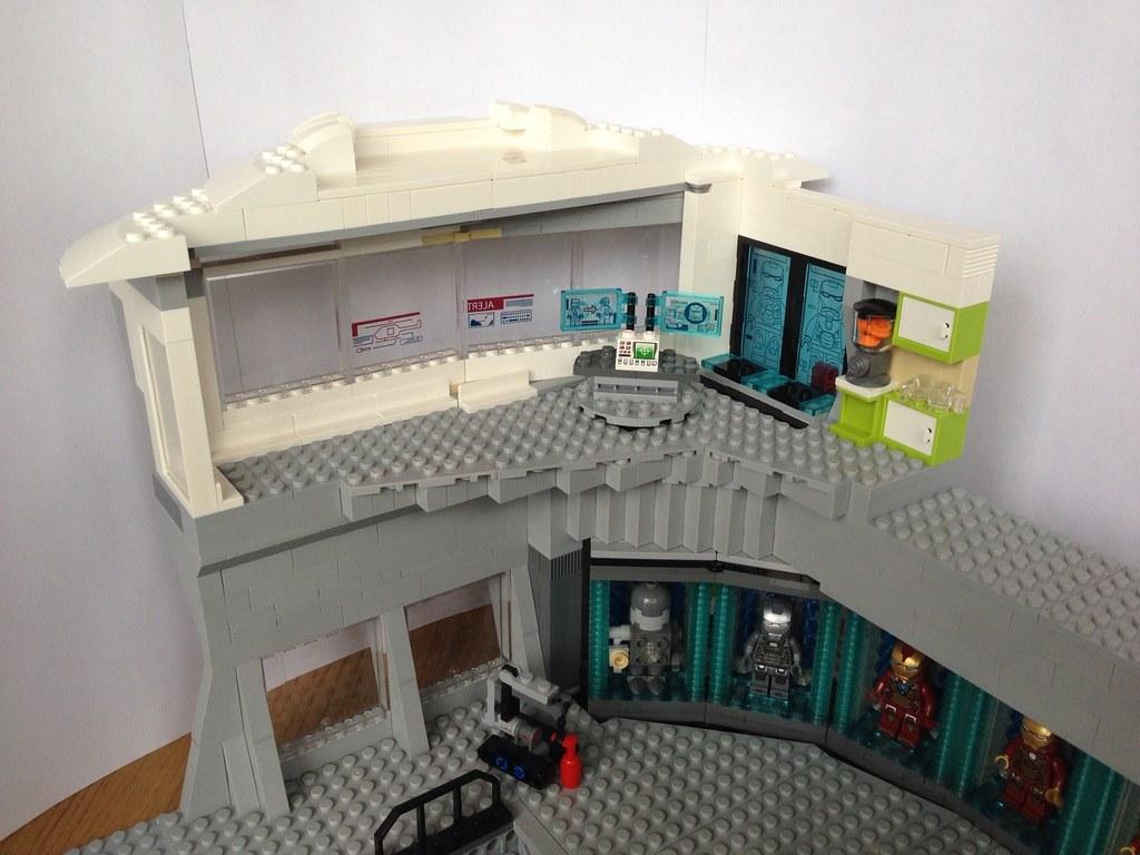 MOC Lego Iron Man 3 Hall of Armour with Lego Malibu Mansio… | Flickr