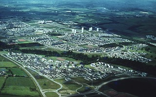 Aerial view of Cumbernauld | by The JR James Archive, University of Sheffield