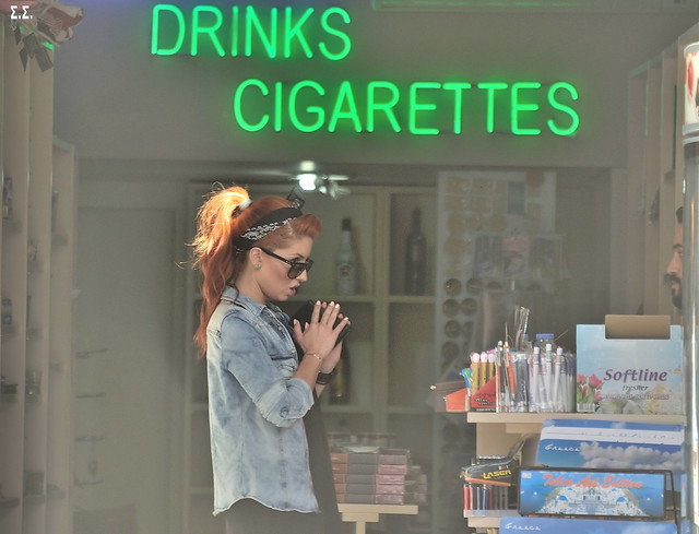 BEGGING FOR DRINKS AND CIGARETTES