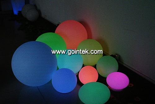 RGB Colorful Glowing bola llevada impermeable