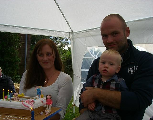 Swimming pool birthday cake.
