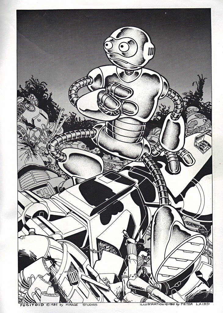 "The Original ""FUGITOID #1"" ix // 'Fugitoid On the Run' pin-up page by Laird (( 1985 )) by tOkKa"