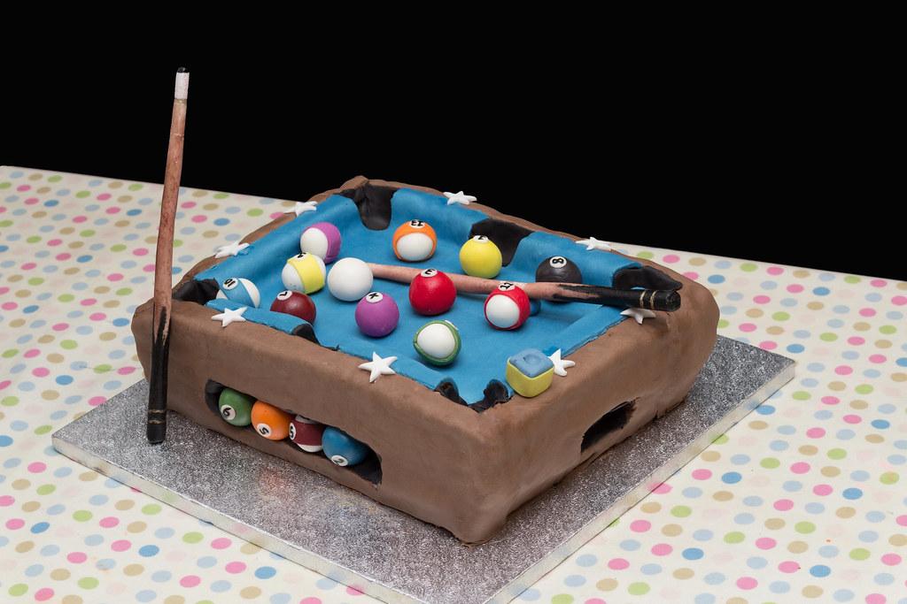 Surprising Pool Table Birthday Cake Carl Gambles Flickr Personalised Birthday Cards Akebfashionlily Jamesorg
