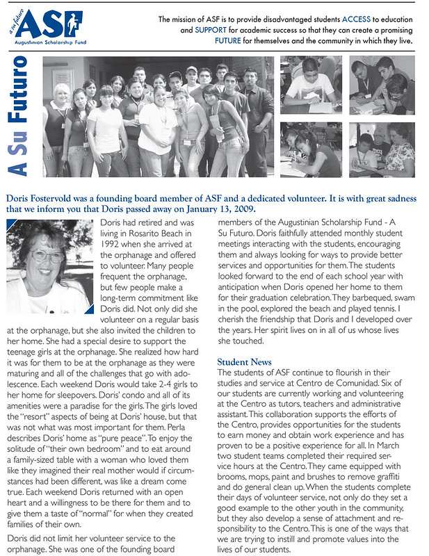 ASF Newsletter 2009 A