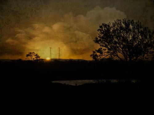 sunset texture landscape