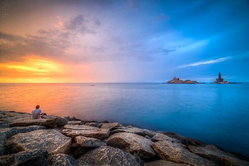 travel india sunrise hdr tamilnadu kanyakumari