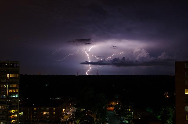 Summer Lightning in Rock Creek