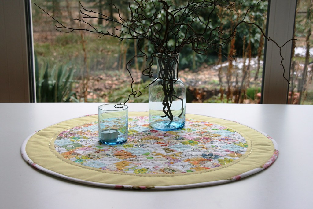 Quilted Round Table Toppers.Round Table Runner Table Topper Table Mat Hand Quilted Flickr