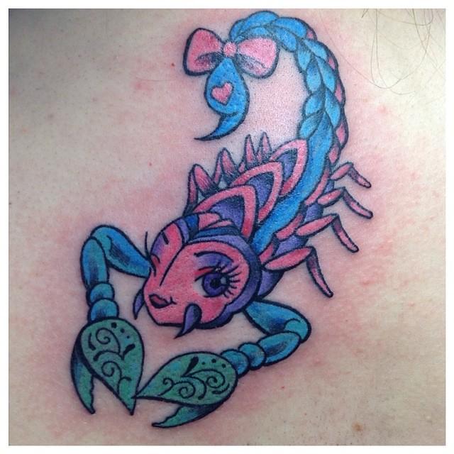 Custom Girly Scorpion Darkhorsetattoos Femaletattooartis Flickr