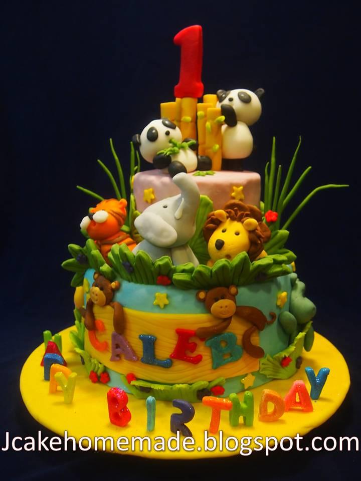 Outstanding Animals Birthday Cake Happy1St Birthdaycaleb Thanks Meris Flickr Funny Birthday Cards Online Benoljebrpdamsfinfo