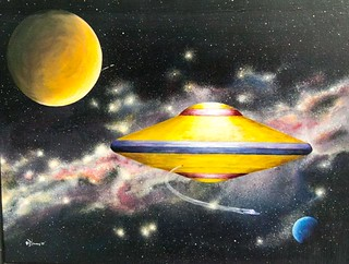 Flying saucer painting | by Alaskan Dude