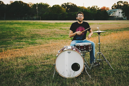 sunset musician music outdoors drums alone texas drumset solo vsco vscofilm vscocam