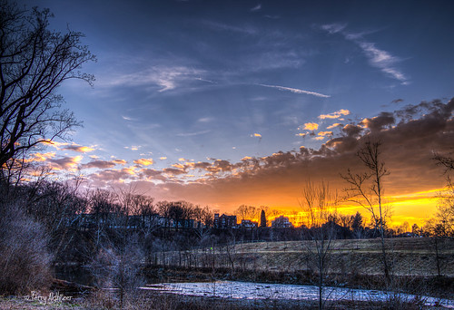 park winter sunset sky southwest clouds river evening walk roanoke terry rays february wasena aldhizer terryaldhizercom