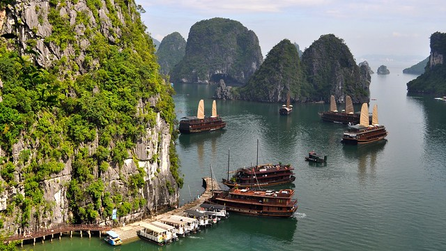 View from Sung Sot Cave, Ha Long Bay, Vietnam