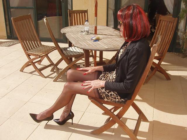 Leopard Print Dress and Heels.