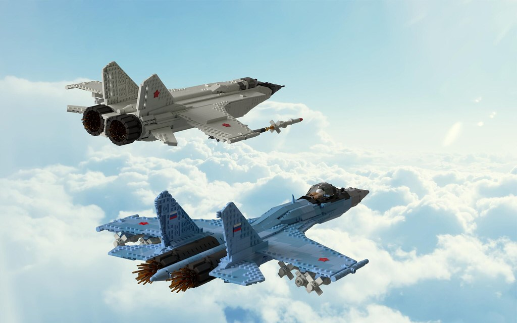 MiG-31BM and Su-35S in the sky | Andrey Petrov (Duhastik) | Flickr