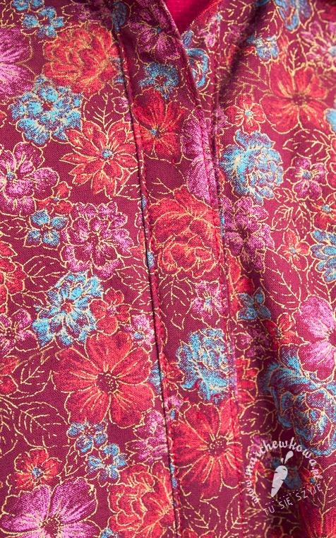 marchewkowa, szyciowy blog roku 2012, szycie, krawiectwo, retro, vintage, 50s, rekonstrukcja, sukienka, Simplicity 2047, Burda, Szycie krok po kroku 1/2013, model #3, koszula, szmizjerka, bawełna, kwiaty, rękaw 3/4