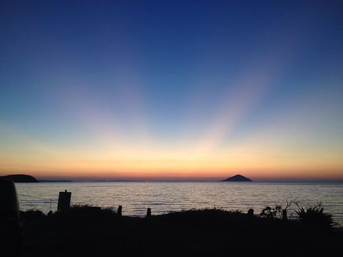 夕日 uploaded:by=flickrmobile flickriosapp:filter=nofilter 深江海水浴場