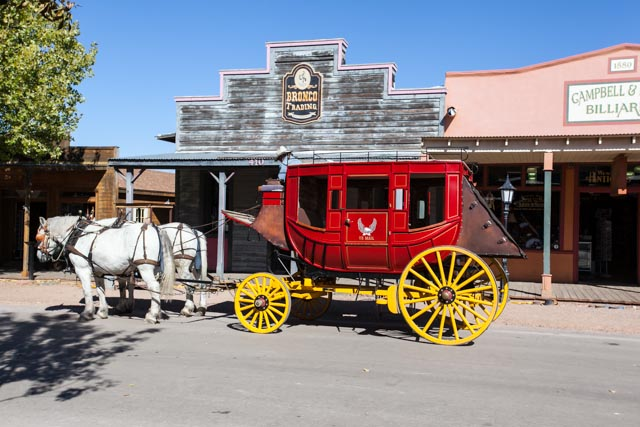 Stage coach in Tombstone