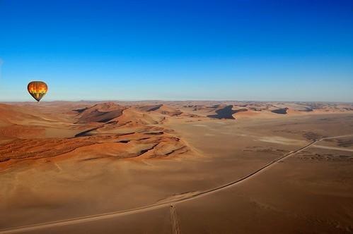sand day dunes balloon clear hotairballoon namibia namibdesert mysouthafrica