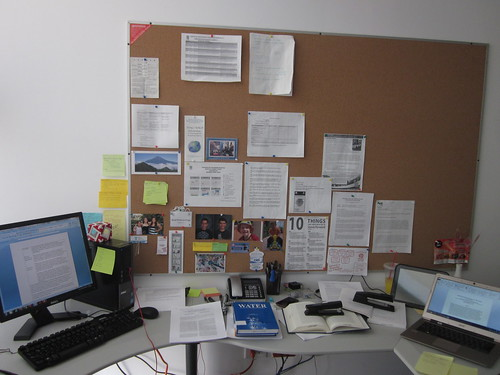 My office at CIDE Region Centro during and after writing a paper | by Raul P