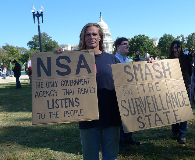 NSA the only governmental agency that really listens to the people--DC Rally Against Mass Surveillance