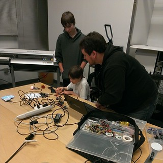 Checking out a variety of arduino projects at our demo nig… | Flickr