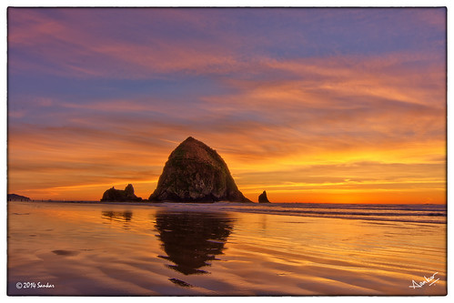 sunset sky beach beautiful oregon landscape natural or surreal cannonbeach hdr realism realistic phtotomatix photoengine oloneo
