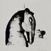 """Mask Horse!?"". Litografia/Lithography, 1990."