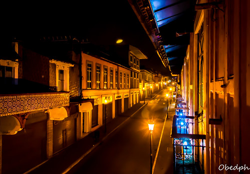 Teziutlán de noche. Puebla, México.