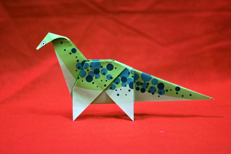 Origami Brachiosaurus