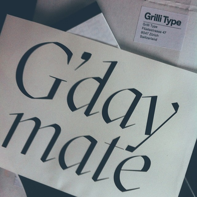 Nice way to start the day with this nice type specimen pac