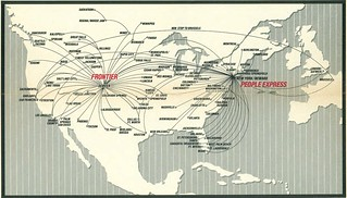 People Express and Frontier route map, February 1986 | Flickr on