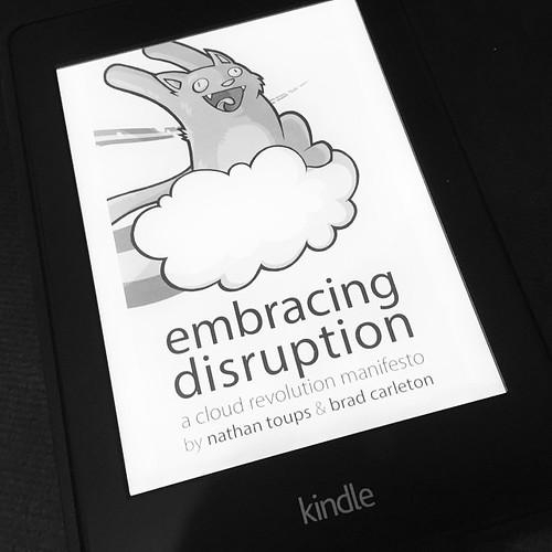 embracing disruption #NathanToups (@rojoroboto) #Buchmontag #Wissen #Inspiration #Kindle #eBook #Knowledge #BookMonday | by achimh