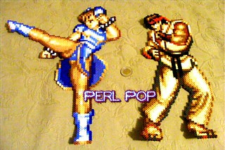 Chun Li And Ryu Street Fighter Perler Beads Sprites Pixel Flickr