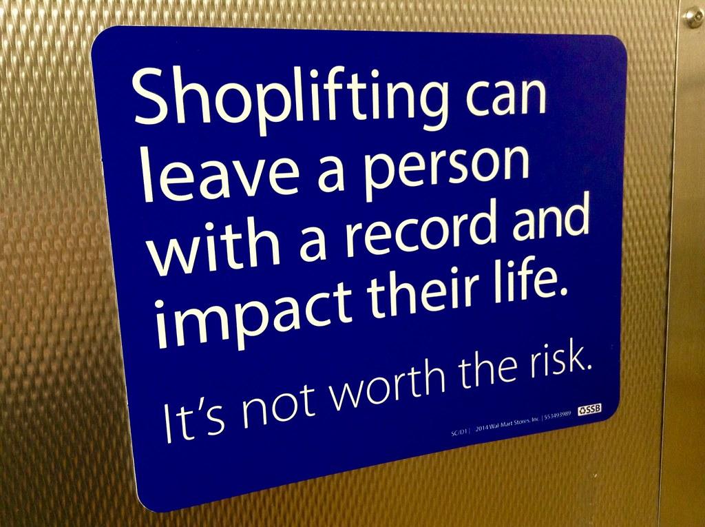 Shoplifting Sign, Walmart | Shoplifting Warning Sign, Walmar