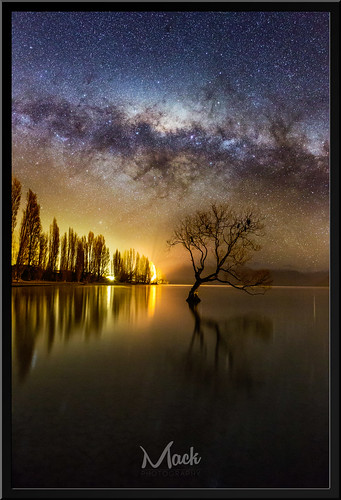 newzealand tree composite way stars fake otago wanaka milkyway