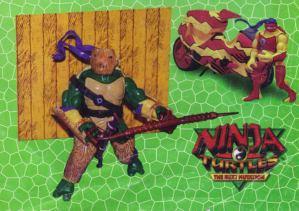 LEE'S TOY REVIEW #xx ::  pg.x TOY FAIR '98 - PLAYMATES'S 'ZORRO' & NT: THE NEXT MUTATION. Turtleflage & SHADOW NINJAS / 'TURTLEFLAGE' Don & Leo's Camo Blitz Bike  (( xx 1998 )) by tOkKa