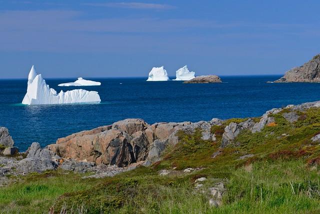 Icebergs near Twillingate, Newfoundland
