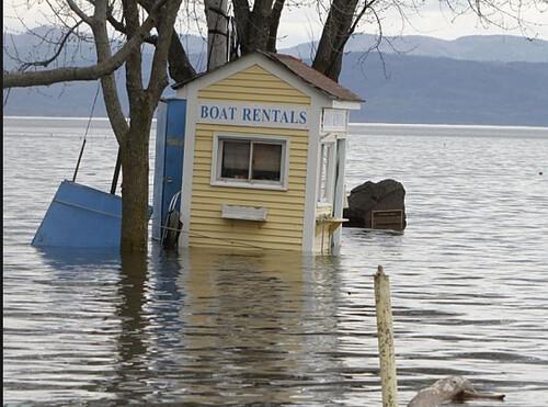 flooded marina
