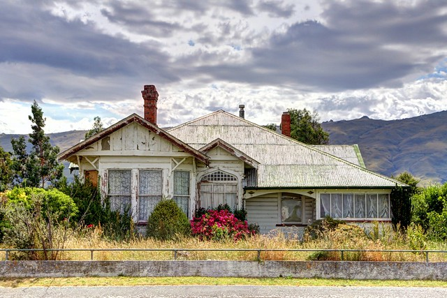 Old house, Middlemarch, Otago, New Zealand