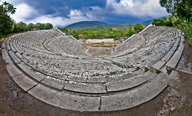 Αρχαίο θέατρο της Επιδαύρου/Ancient theatre of Epidaurus Panorama  7cps